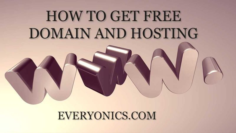 How To Get Free Domain and Free Hosting